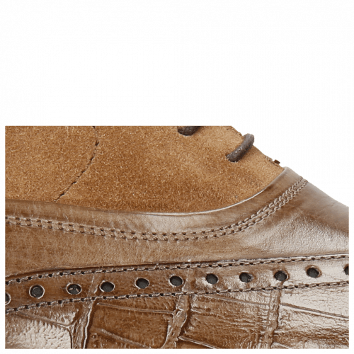 Oxford schoenen Lewis 4 Big Croco New Taupe