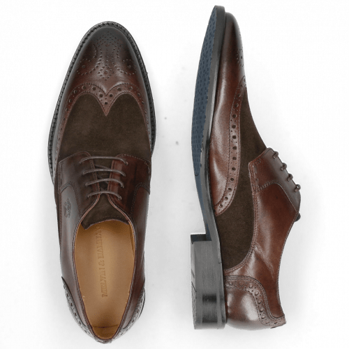 Derby schoenen Victor 2 Rio Mogano Suede Pattini Brown