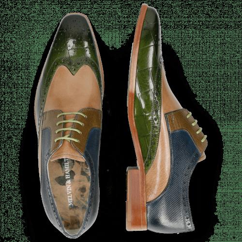 Derby schoenen Lewis 3 Turtle Ultra Green Cappuccino Dice Olive Helio