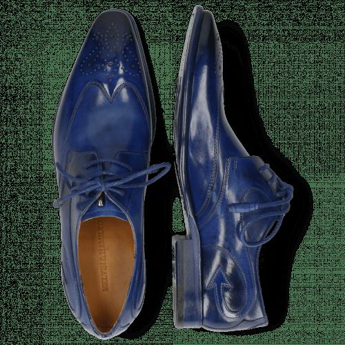 Derby schoenen Elvis 63 Electric Blue Lining