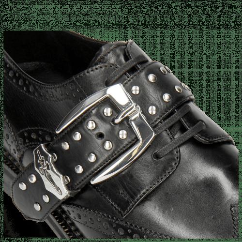 Derby schoenen Eddy 37 Black Rivets Nickel Sword