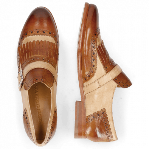 Monks Selina 2 Pisa Tan Nude Strap