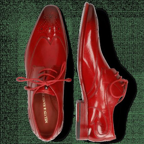 Derby schoenen Elvis 63 Ruby Lining Red