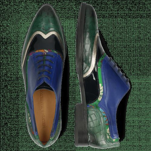 Oxford schoenen Jessy 13 Crock Pine Nappa Aztek Gold Soft Patent Oriental Saphir Korela Green
