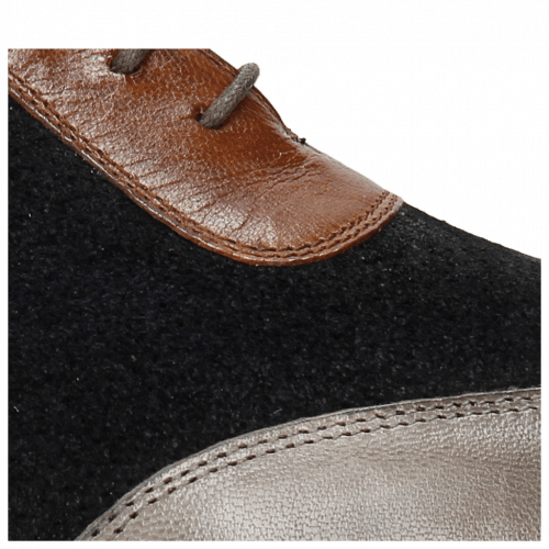 Oxford schoenen Rico 8 Stone Suede Patinni Navy Rio Mid Brown