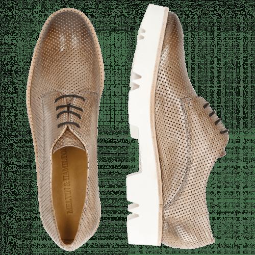Derby schoenen Amelie 14 Perfo Morning Grey Iron White