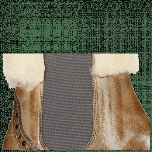 Enkellaarzen Amelie 63 Grigio Fur Lining Beige