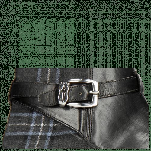 Enkellaarzen Kane 1 Black Textile Charcoal Strap Vegas Sword Buckle