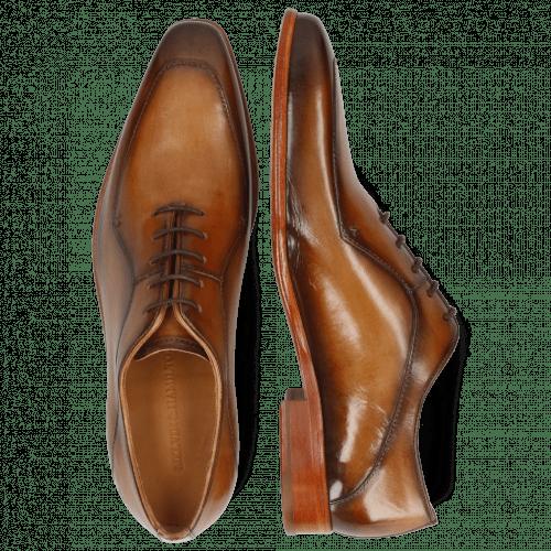 Oxford schoenen Lance 64 Tan Washed Shade Dark Brown