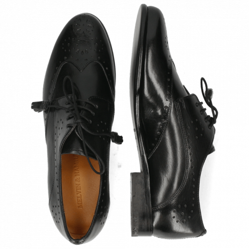 Derby schoenen Selina 41 Black Lining Rich Tan