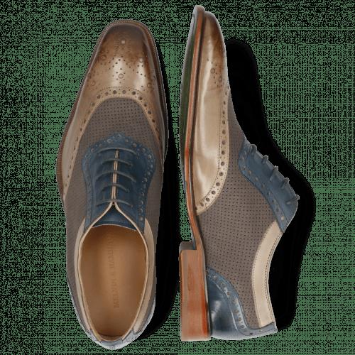 Oxford schoenen Clark 16 Digital Nubuck Perfo Stone Mock Navy