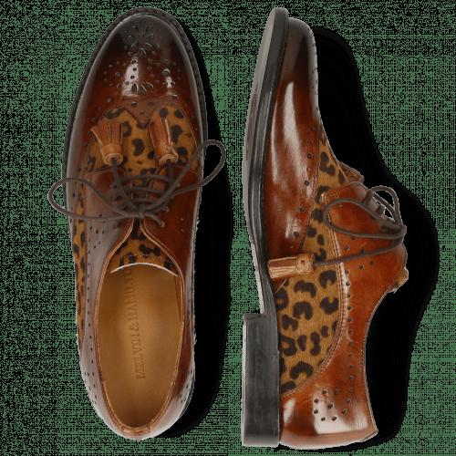 Derby schoenen Selina 41 Wood Hairon Leo Cognac