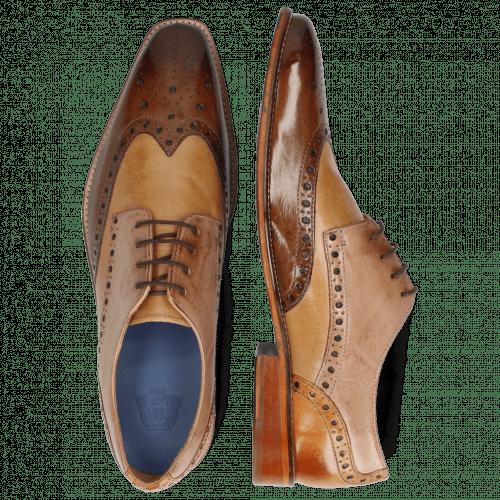 Derby schoenen Martin 15 Berlin Mid Brown Sand Make Up Cognac