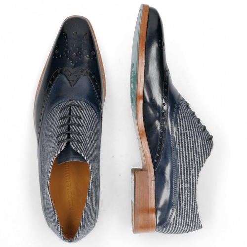 Oxford schoenen Lewis 4 Navy Wind Textile Stripes Blue