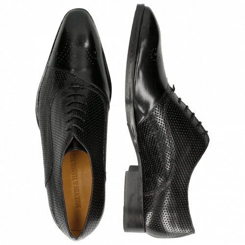 Oxford schoenen Ricky 9 Crock Perfo Black LS Black