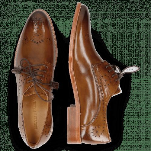 Derby schoenen Betty 2 Nougat Tassel Dark Brown