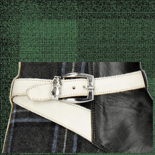 Enkellaarzen Kane 1 Black Textile Charcoal Strap Vegas White Sword Buckle