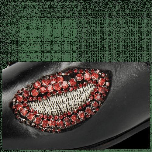 Loafers Scarlett 8 Black Patch Dragon Fly Bug
