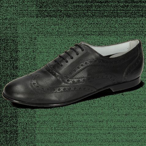 Oxford schoenen Sonia 1 Nappa Perfo Black