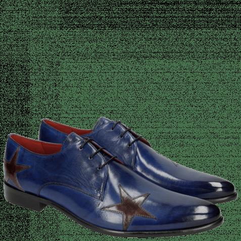Derby schoenen Toni 19 Electric Blue Stars Ash