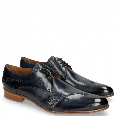 Derby schoenen Toni 40 Woven Navy Lining Rich Tan