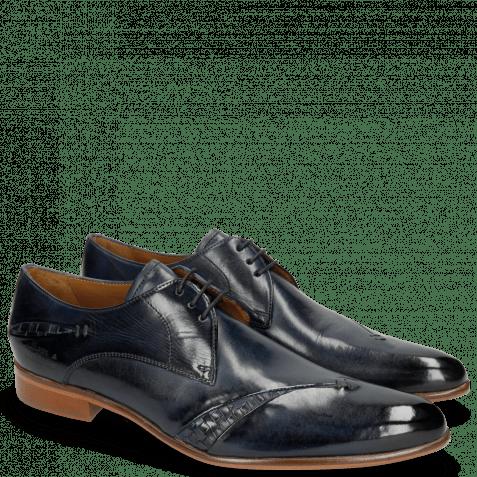 Derby schoenen Toni 40 Woven Navy Lining Rich Tan