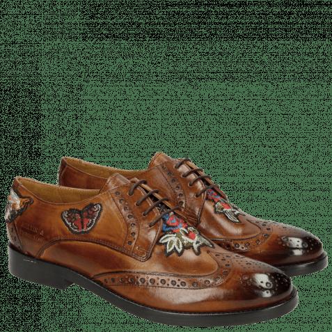Derby schoenen Amelie 46 Wood Embroidery