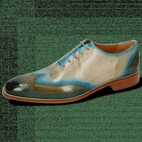 Oxford schoenen Jeff 42 Khaki Shade Mid Blue Oxygen