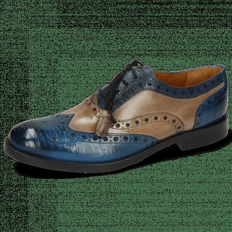 Oxford schoenen Amelie 70 Guana Bluette Oxygen Phyton Wind