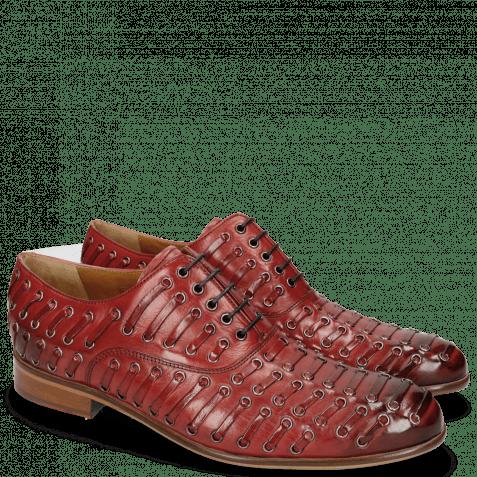 Oxford schoenen Henry 25 Red Eyelet Gunmetal Lining