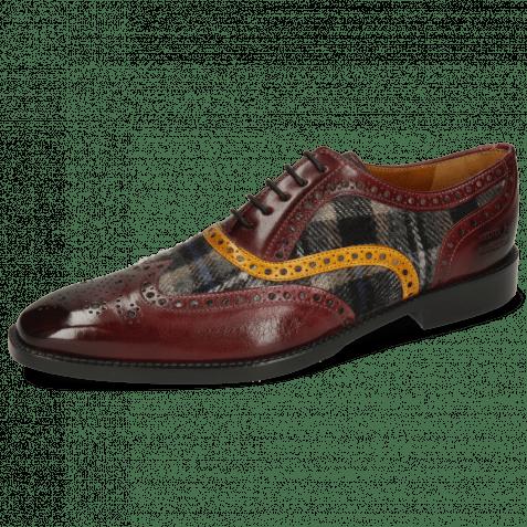 Oxford schoenen Leonardo 21 Burgundy Textile Crayon Indy