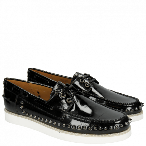 Loafers Jim 1 Soft Patent Black Rivets