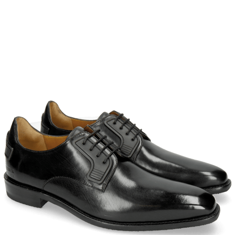 Derby schoenen Dave 4 Black Rubber Black