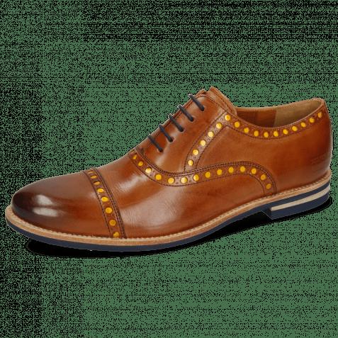 Oxford schoenen Scott 15 Wood Underlay Patent Yellow