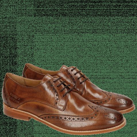 Derby schoenen Amelie 3 Classic Tan LS Natural