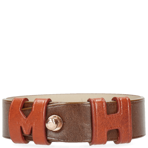Armbanden Archie 1 Tan Loops Orange Studs Rose Gold