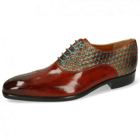 Oxford schoenen Lance 49 Rust Interlaced Abyss