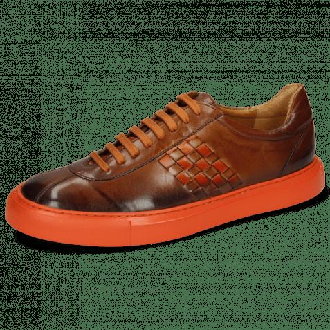 Sneakers Harvey 7 Wood Shade Mid Brown Interlaced Winter Orange