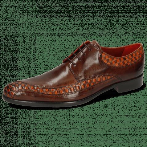 Derby schoenen Toni 36 Woven Orange Mogano Mid Brown