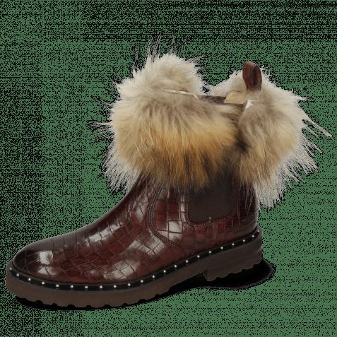 Enkellaarzen Sally 114 Chestnut Fur Lionel Brown