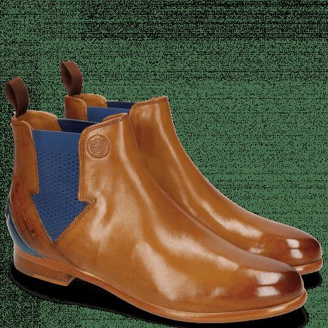 Enkellaarzen Selina 39 Pisa Tan Strap Mid Blue