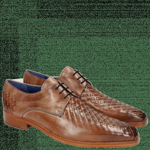 Derby schoenen Lewis 25 Classic Cappu Interlaced Orange LS