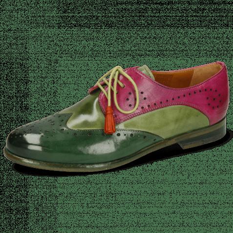 Derby schoenen Selina 41 Dark Forest New Grass Dark Pink