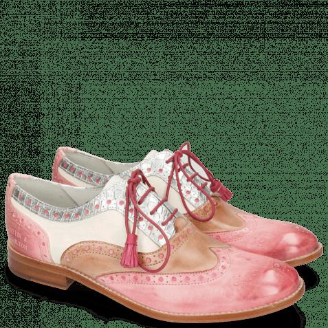 Oxford schoenen Amelie 70 Vegas Skin Light Rose Timor Silver White