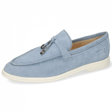 Loafers Adley 3  Goat Suede Sky Accessory Nickle