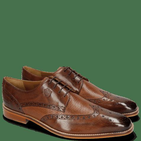 Derby schoenen Martin 15 Berlin Mid Brown Perfo Wood