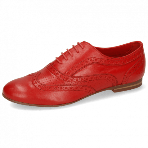 Oxford schoenen Sonia 1 Nappa Perfo Red