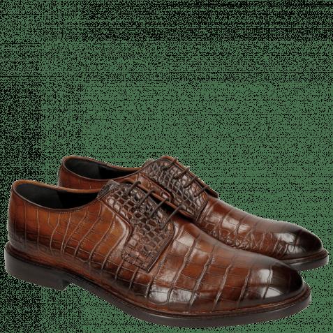 Derby schoenen Matthew 1 Croco Wood HRS