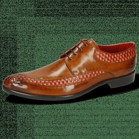 Derby schoenen Toni 36 Woven Sand Ruby Cognac