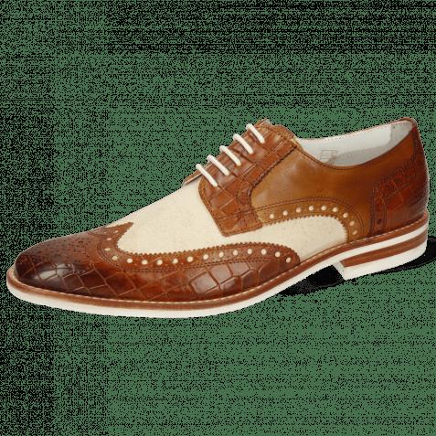 Derby schoenen Barry 1 Vegas Crock Tan Canvas Off White